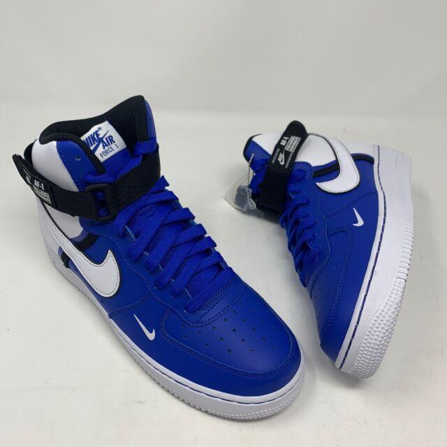 all blue nike air force 1 high top