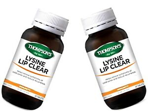 Details about 2 x 60 Tablets THOMPSON'S Lysine Lip Clear / Thompsons Cold  Sore Remedy