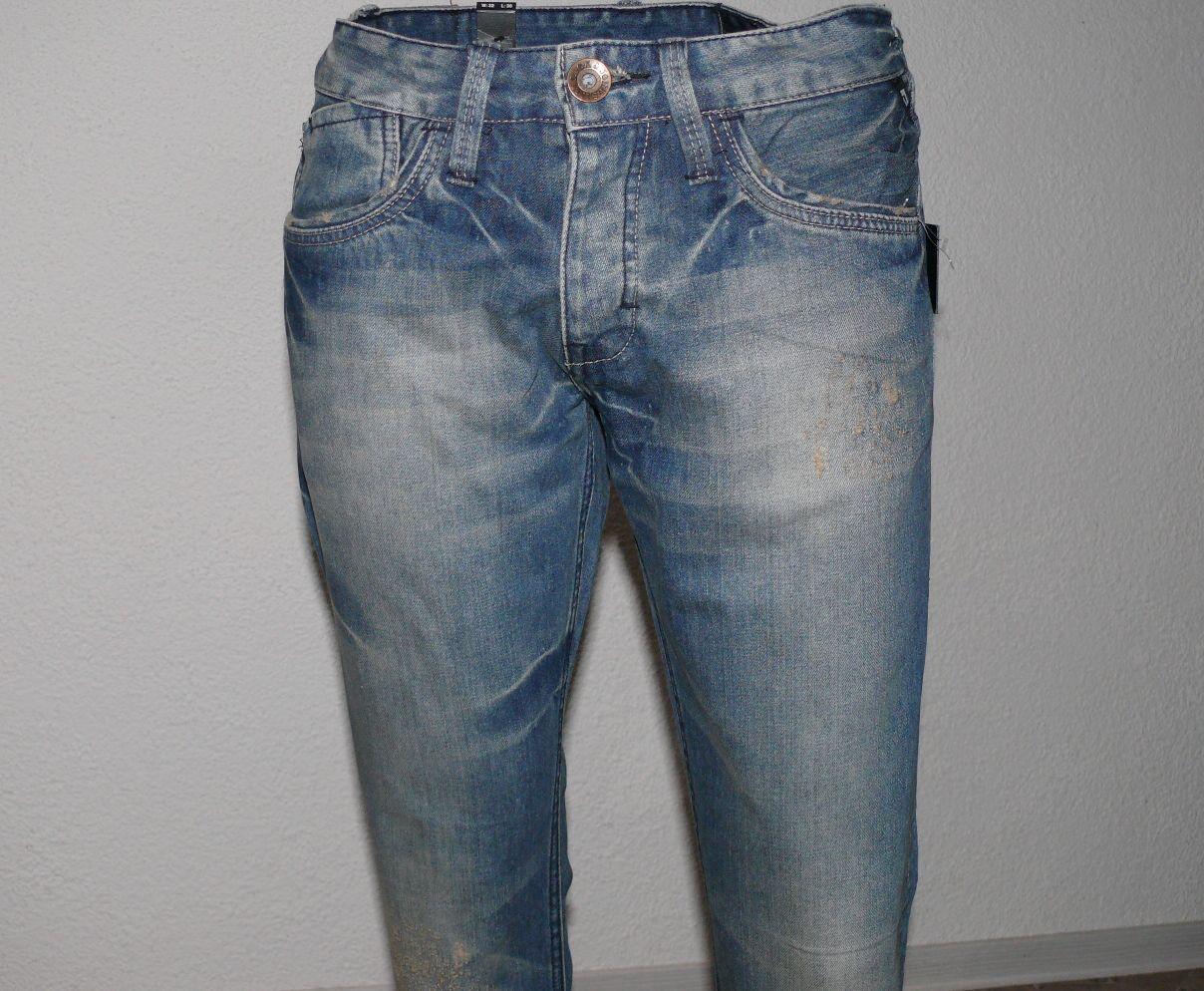 Jack & Jones Clark Platte Platte Platte BB 106 Regular Fit Herren Jeans W32 L30 Vintage Blau e2c6a0