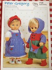 PETER GREGORY ~ Dolls Clothes ~ Knit Pattern ~ DK ~ dress/sweater/shoes/coat etc