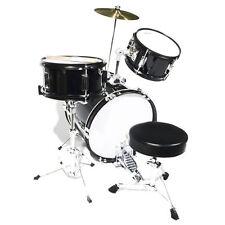 "Mendini 16"" Junior Kids Child Jr. Drum Set Kit ~Black"