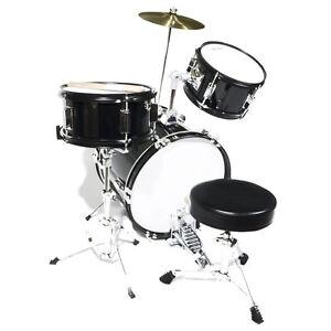 Mendini 16 Quot Junior Kids Child Jr Drum Set Kit Black Ebay