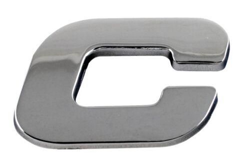 Sumex Branded Chrome 3D Sticker Self Adhesive Car & Home Emblem Badge - Letter C