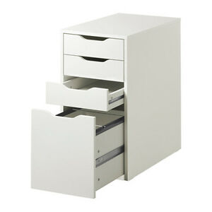 Details about Ikea Alex Drawer Unit White Home Office New (Drop File  Storage)
