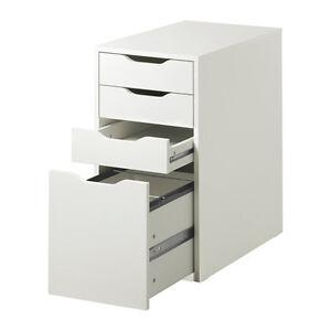 Wonderful Image Is Loading Ikea Alex Drawer Unit White Home Office New