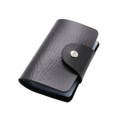 Pu Leather Credit Card Wallet Holder Concise Bank Card Package For 24 Cards