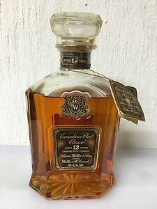 Canadian Whisky Hiram Walker Canadian Club Classic Aged 12 Years 75cl 40° 1974 - Italia - Canadian Whisky Hiram Walker Canadian Club Classic Aged 12 Years 75cl 40° 1974 - Italia