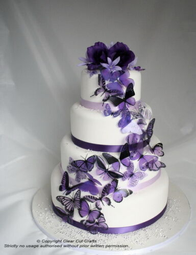 Purple Butterfly Cake Toppers or Decorations