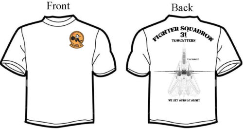 VF-31 Tomcatters F-14 Squadron T-Shirt D-2