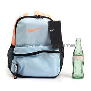 a61781e407a Nike Brasilia Just Do It Backpack Mini Kids Light Blue Black Orangs ...