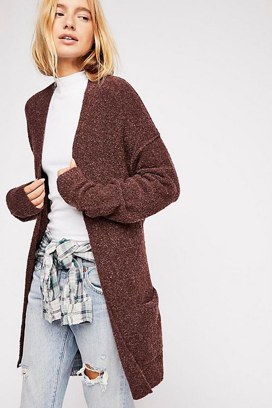 Free People NWT Size Large Craving You Cashmere Cardi Sweater L Cardigan