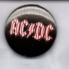 ACDC / AC/DC - RARE BUTTON BADGE - CLASSIC ROCK  HEAVY METAL BAND