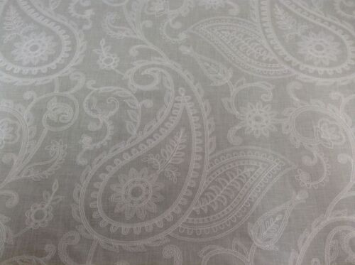 Pearl Dove Grey Embroidered  Linen Fibre Naturelle Curtain//Upholstery Fabric