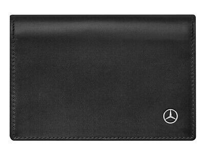 Orig Accessoires & Fanartikel Auto & Motorrad: Teile Mercedes-benz Visitenkartenetui Kredit-kartenetui Etui Schwarz Kalbsleder The Latest Fashion