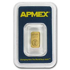 1 gram APMEX Gold Bar - Tamper Evident Packaging - SKU #63288