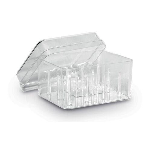 19mm Diam vacío 12 Carrete caja de plástico para carretes de 100m Gutermann Caja de almacenamiento