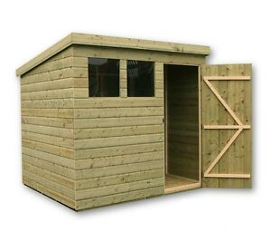8x5 garden shed shiplap pent shed tanalised windows for Garden shed 8x5