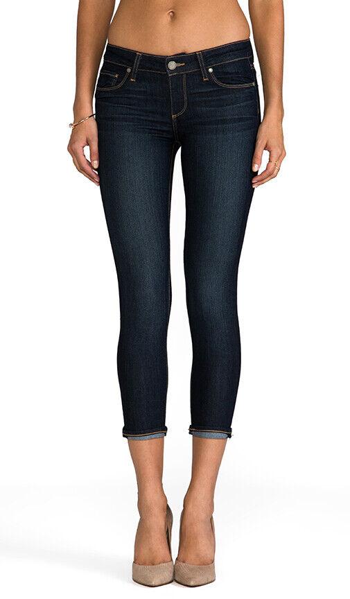 PAIGE Kylie Crop Skinny Jeans Dark Wash Size 25 EUC