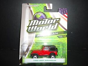 Greenlight Jeep Wrangler 1992 Red 1/64 96160