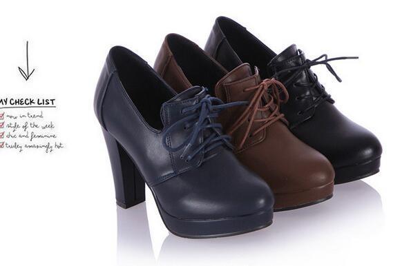 botas oxford zapatos de mujer marrón azul negro 10 como piel 8945