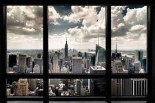 New York City Window Poster Wall Art Print Home Decor Skyline