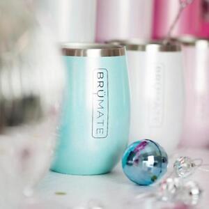 a9e6d41e359 BrüMate Uncork'd 14 oz. Insulated Wine Glass Glitter Sparkle Aqua ...