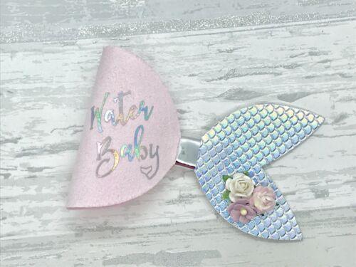 Mermaid Hair Bow Water baby Mermaid Glitter Bow Girls Gift