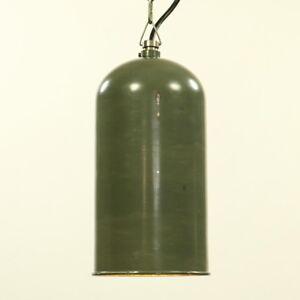 AEG-Industrie-Lampe-an-Kette-Pendel-Haenge-Leuchte-Vintage-30er-50er-Jahre