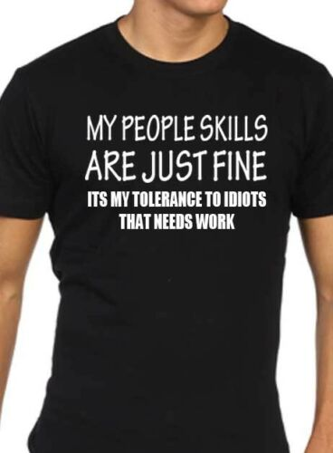 my people skills are just fine mens funny t shirt gift present