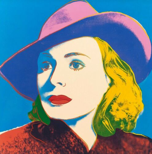 """ANDY WARHOL Pop art Poster or Canvas Print /""""Ingrid Bergman/"""" Square up to 24x24/"""""""