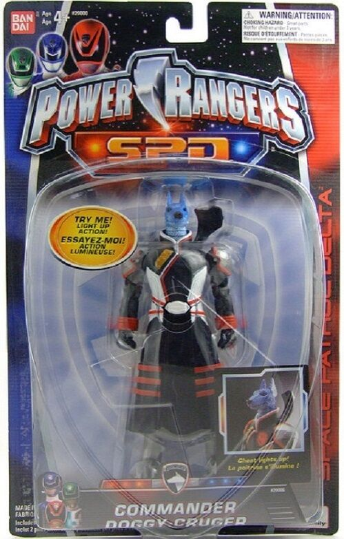 Power Rangers SPD Light up 5  Commander Doggy Cruger New Factory Sealed 2004