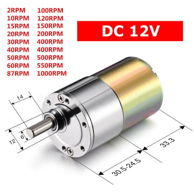 DC12V 550RPM Gear Box Motor Speed Reduction Gearbox Eccentric Output Shaft