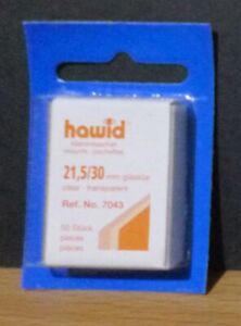 HAWID-STAMP-MOUNTS-CLEAR-Pack-of-50-Individual-21-5mm-x-30mm-Ref-No-7043