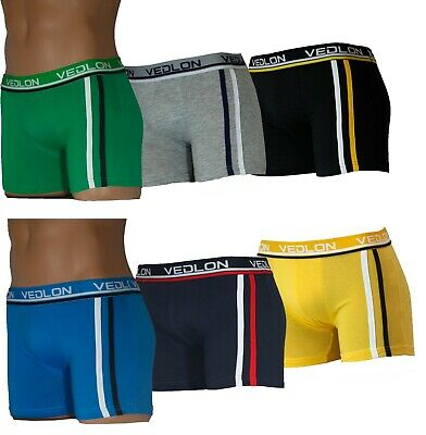 3 Pack Mens Boxers Shorts UK Size M-XL Briefs Adults Underwear Vedlon Low Rise
