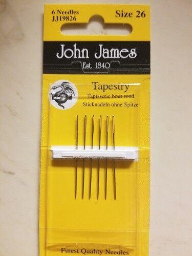 John James Cross Stitch//TAPISSERIE//Bead Aiguilles-Tailles Diverses