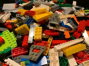 2-POUNDS-LBS-OF-LEGOS-Bulk-lot-Bricks-parts-pieces-random-pieces