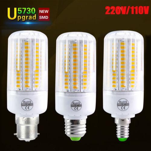 B22 E26 E27 E14 2.5W-12W SMD 5730 LED Corn Light Bulbs Spotlight White Lamp UK