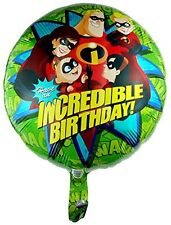 "NEW THE INCREDIBLES   MYLAR FOIL BALLOON 18"" PARTY FAVORS SUPPLIES"