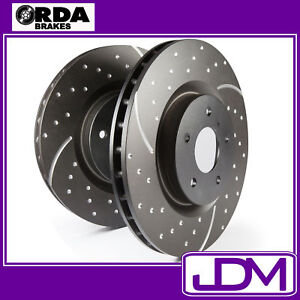 Rear SLOTTED and DIMPLED Brake Disc Rotors - FORD Falcon EF EL, Fairlane