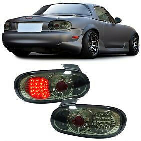 Image Is Loading Smoked Led Rear Tail Lights For Mazda Mx5