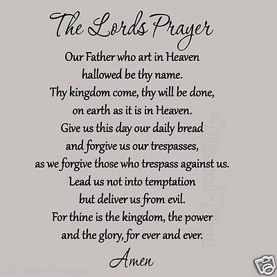 The Lords Prayer Wall Decal Bible Quote Christian Wall Scripture Home MM-2001