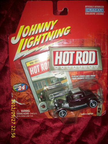 Johnny Lightning Hot Rod 1932 Ford 5 WINDOW coupe #3 1:64 DIE CAST