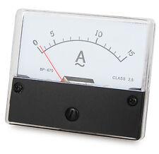 Messinstrument 0 - 15 A AC zum Einbau, Einbaumessinstrument, Analog Amperemeter