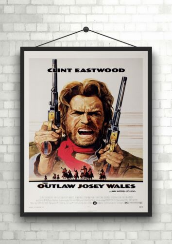 Clint Eastwood The Outlaw Classic Vintage Large Movie Poster Art Print A0 A1 A2