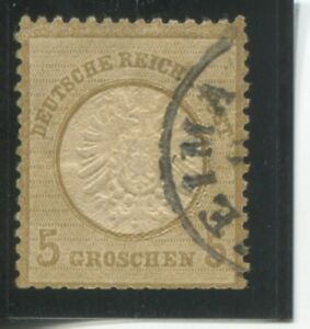 Details about GERMANY, SCOT 20 5 GR BISTER EAGLE WITH LARGE SHIELD  PERF 131/2X141/2 USE