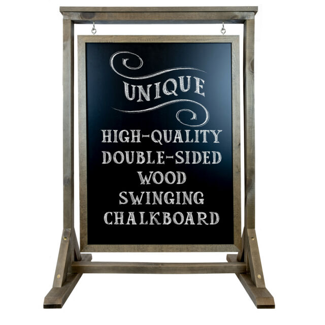 Double sided handcrafted wood sign