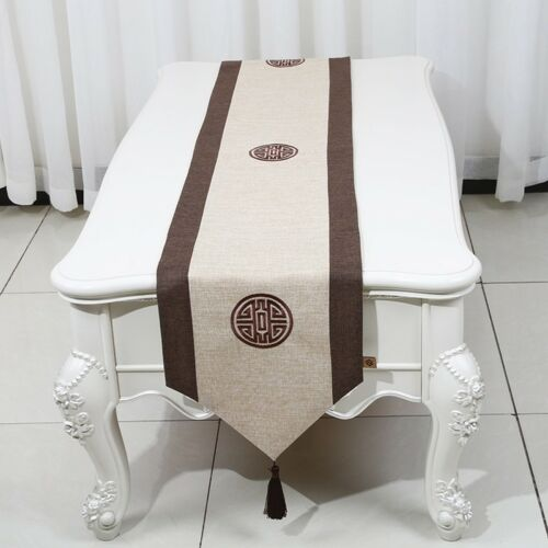 Home & Garden Embroidered Table Runners Linen Cotton Table Runner ...