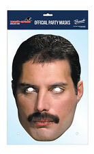Freddie MERCURY ufficiale REGINA Carta 2D faccia del partito MASCHERA FANCY DRESS UP ROCK BAND