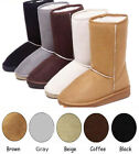 Women Ladies Winter Warm Mid-Calf Snow Boots Fur Lining Flat Shoes More Sizes