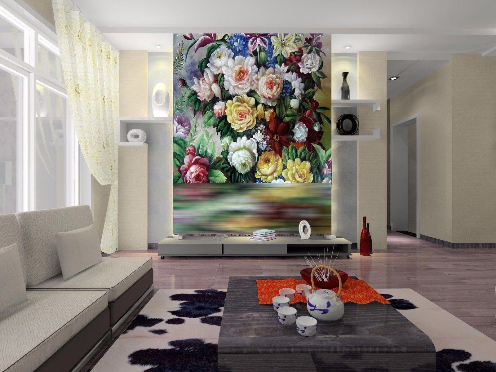 3D Schöne Blaumen Malerei 96 Tapete Wandgemälde Tapete Tapeten Bild Familie DE | Gutes Design  | Neuheit  |